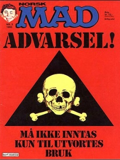 Go to MAD Magazine #2 1982 • Norway • 2nd Edition - Semic