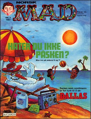 MAD Magazine #15 • Norway • 2nd Edition - Semic
