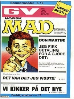 Go to MAD Magazine #5 1982 • Norway • 2nd Edition - Semic