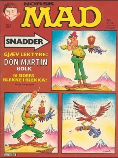 Go to MAD Magazine #6 1982 • Norway • 2nd Edition - Semic