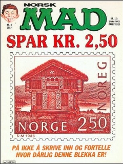 Go to MAD Magazine #20 • Norway • 2nd Edition - Semic