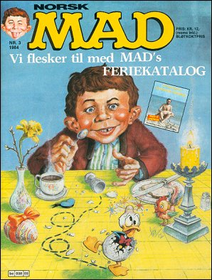 MAD Magazine #24 • Norway • 2nd Edition - Semic