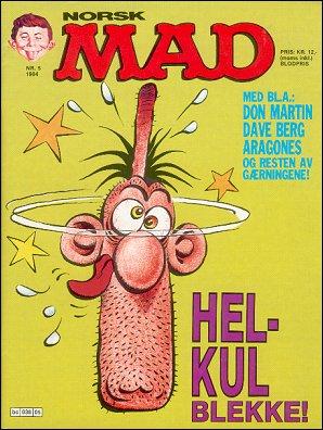 MAD Magazine #5 • Norway • 2nd Edition - Semic