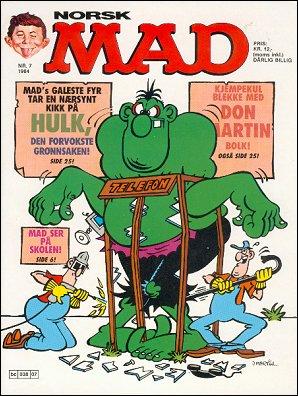 MAD Magazine #7 1983 • Norway • 2nd Edition - Semic
