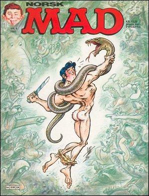 MAD Magazine #4 • Norway • 2nd Edition - Semic