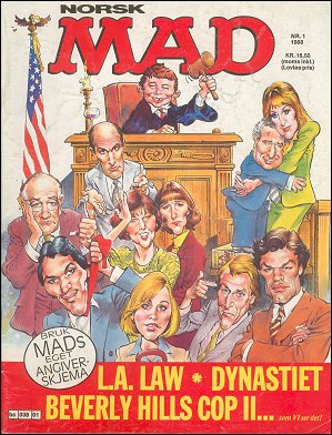 MAD Magazine #1 1987 • Norway • 2nd Edition - Semic