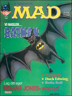 MAD Magazine #9 1988 • Norway • 2nd Edition - Semic