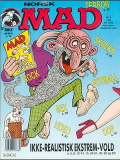 Go to MAD Magazine #5 1989 • Norway • 2nd Edition - Semic