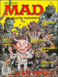 Go to MAD Magazine #4 1990 • Norway • 2nd Edition - Semic