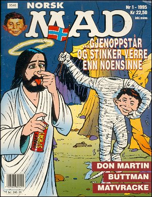 MAD Magazine #1 1994 • Norway • 3rd Edition - Bladkompaniet