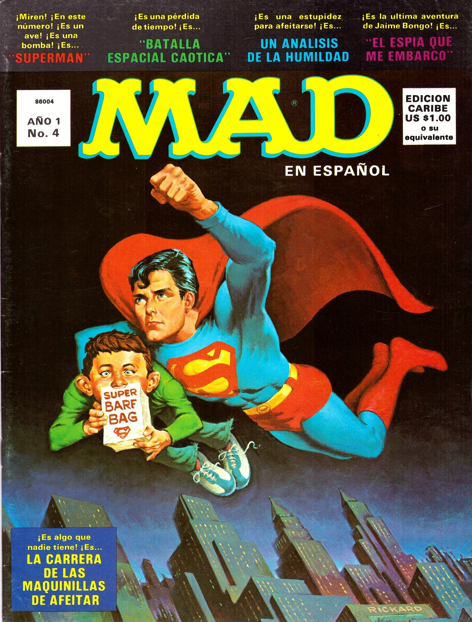 MAD Magazine #4 • Puerto Rico • 1st Edition - Ano 1