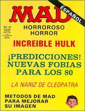 MAD Magazine #23 • Puerto Rico • 2nd Edition - Ano 2