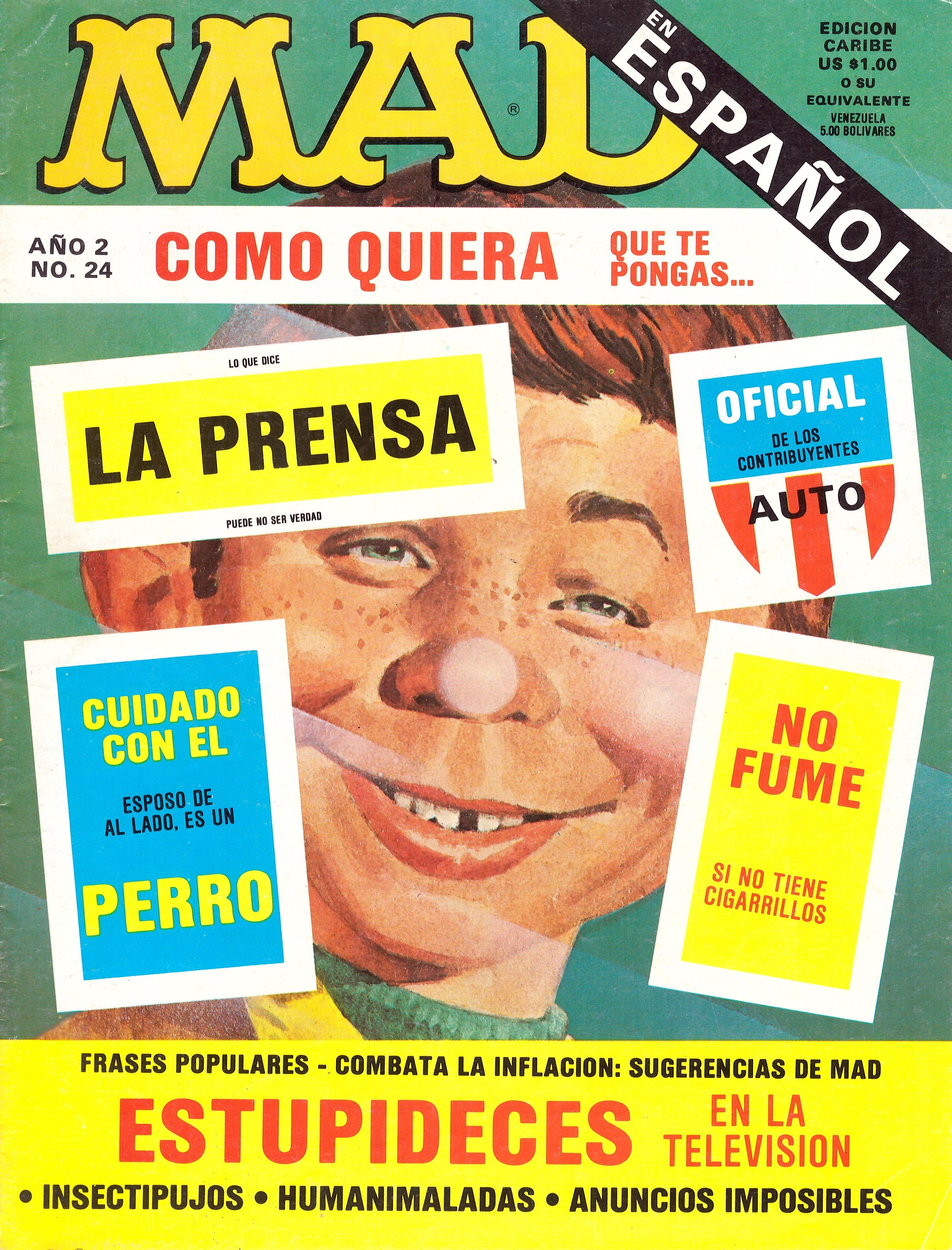 MAD Magazine • Puerto Rico • 2nd Edition - Ano 2