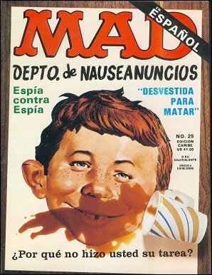 MAD Magazine #25 • Puerto Rico • 2nd Edition - Ano 2