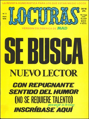 MAD Magazine #3 • Spain • 2nd Edition - Locuras