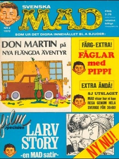 Go to MAD Magazine #2 1971 • Sweden