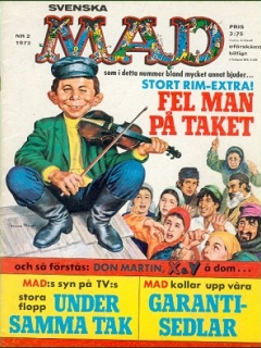 Go to MAD Magazine #2 1972 • Sweden