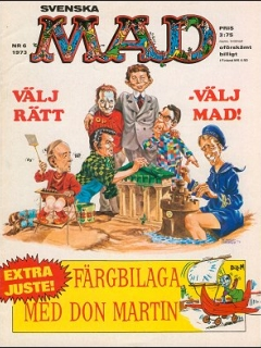 Go to MAD Magazine #6 1972 • Sweden