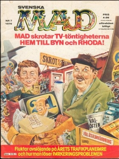 Go to MAD Magazine #7 1975 • Sweden