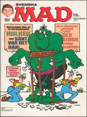 MAD Magazine #8 1980 • Sweden