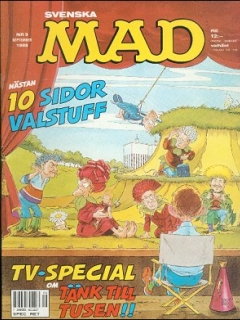 Go to MAD Magazine #9 1987 • Sweden
