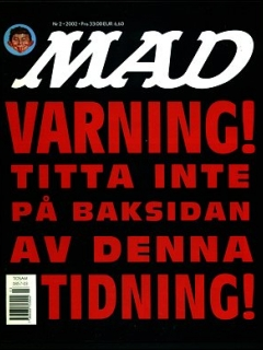 Go to MAD Magazine #2 2001 • Sweden