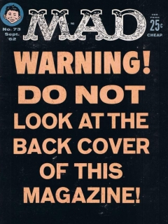 Go to MAD Magazine #73 • USA • 1st Edition - New York