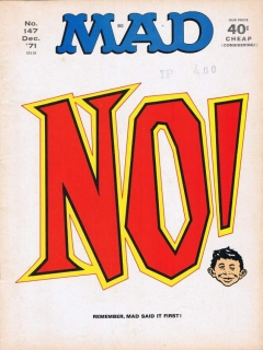 Go to MAD Magazine #147 • USA • 1st Edition - New York
