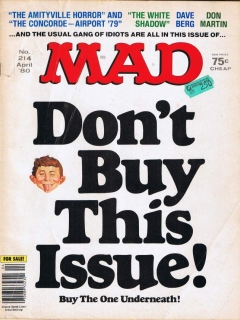 Go to MAD Magazine #214 • USA • 1st Edition - New York