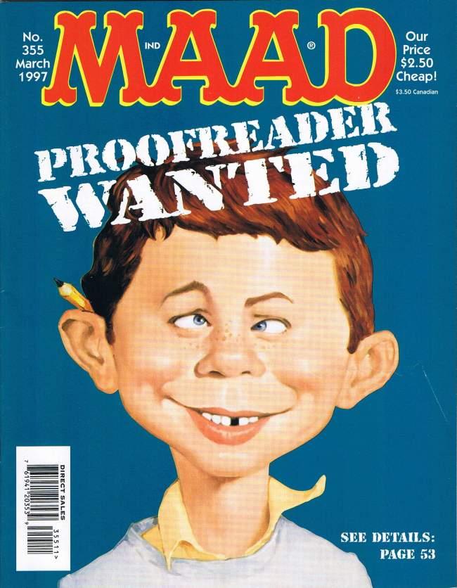 MAD Magazine #355 • USA • 1st Edition - New York
