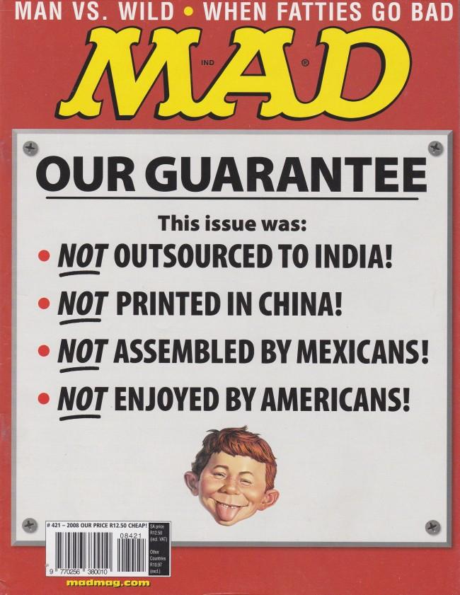 MAD Magazine #421 • South Africa