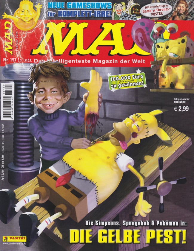 MAD Magazine #157 • Germany • 2nd Edition - Dino/Panini
