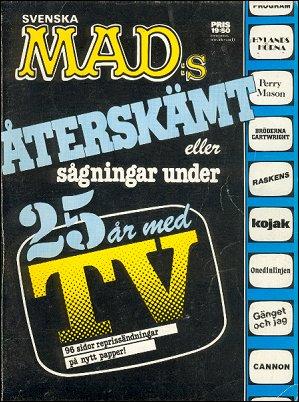 MAD Aterskämt eller sagningar under 25 ar med TV • Sweden • 1st Edition