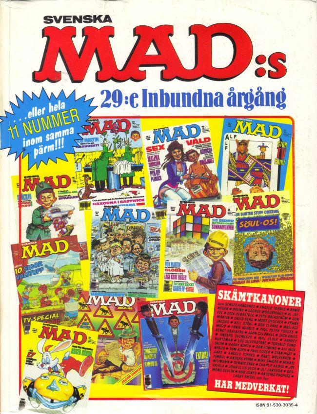 MAD Inbundna årgång #29 • Sweden