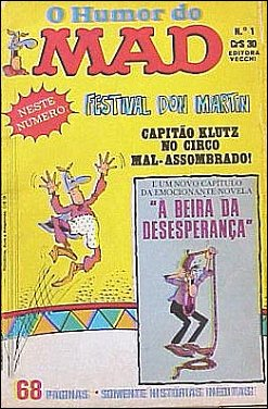 O Humor Do MAD Paperbacks (Vecchi) #1 • Brasil • 1st Edition - Veechi