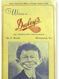 Go to Restaurant Menu Card Pre MAD Alfred E.Neuman #1 • USA