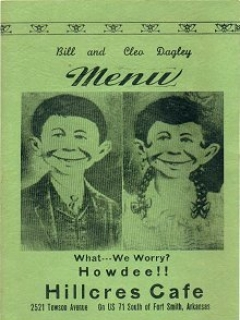 Go to Restaurant Menu Card Pre MAD Alfred E.Neuman #2 • USA