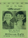 Image of Restaurant Menu Card Pre MAD Alfred E.Neuman #2