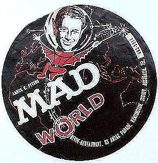 Flyer Sydney Australia Restaurant 'MAD World' • Australia