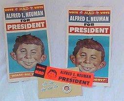 Kit 'Alfred E. Neuman for President' 1968 • USA