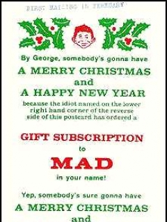 Go to Subscription Card Christmas MAD Magazine • USA