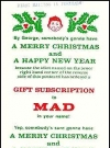 Subscription Card Christmas MAD Magazine