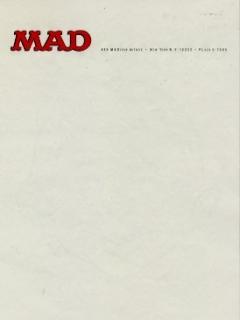 Stationery Letterhead (Alfred E. Neuman Watermark) • USA