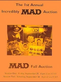 Auction Catalog: 'The 1st Annual Incredibly MAD Auction' • USA