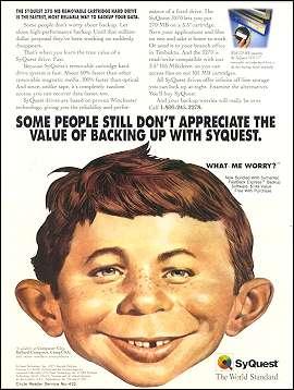 SyQuest 1994 Magazine Ad • USA