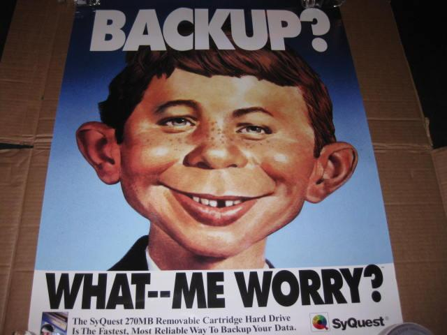 SyQuest Technology Promotional Poster w/ Alfred E. Neuman • USA