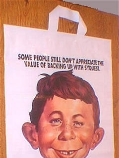 Go to SyQuest Technology Plastic Bag w/ Alfred E. Neuman • USA