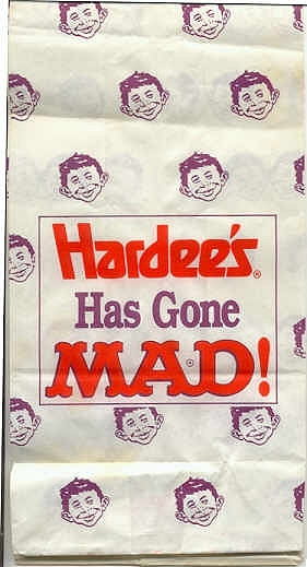 Hardee's Gone MAD Take-out Bag • USA