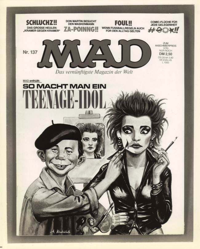Press Release Nina Hagen on MAD Magazine cover • Germany