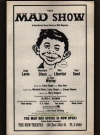 Image of 'The MAD Show' Musical - Show Program #2